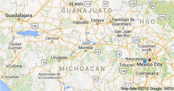 Rio Lerma map