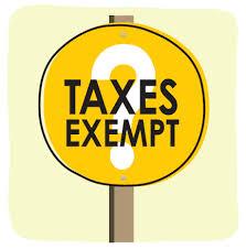 Taxes Exempt