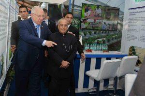 ביקור נשיאי הודו וישראל בביתן הלאומי