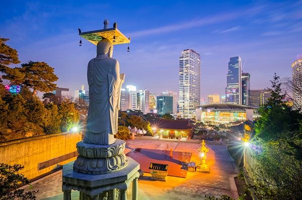 Bongeunsa Temple in Seoul, South Korea