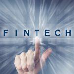 hand clicking on fintech or Financial technology button