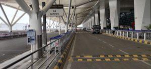 הכניסה לטרמינל הנטוש בשדה התעופה של דלהי 26.3.2020