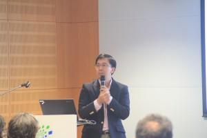 מר Steven Wang, יזם ומייסד HighLight Capital במהלך הרצאה לנציגי החברת הישראליות שהשתתפו בארוע ההשקעות בהונג קונג.