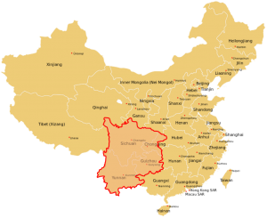 אזור דרום-מערב סין, מקור: Wikimedia