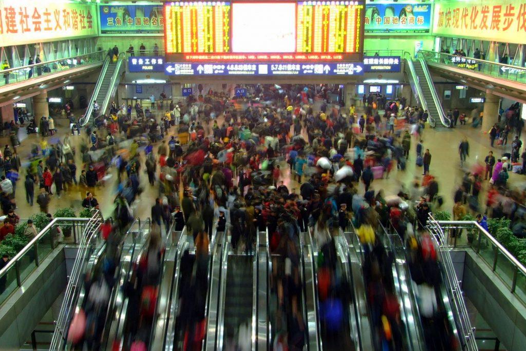 ההגירה הגדולה בעולם (קרדיט: By Charlie fong冯成 - Own work, Public Domain, httpscommons.wikimedia.orgwindex.phpcurid=5796137)