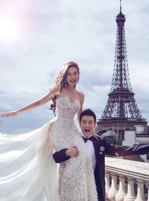 """שמלת """"הפרחים"""" של הכוכבת הסינית Angela Baby"""