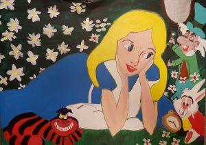 תמונה בהשראת אליסה בארץ הפלאות
