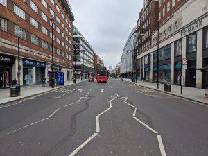 רחוב אוקספורד בימי קורונה
