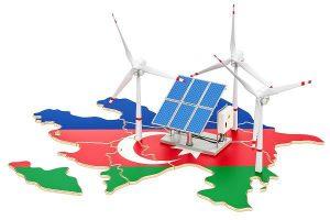 דגל אזרבייג'ן אנרגיה מתחדשת