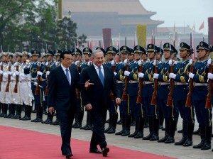 ראש ממשלת ישראל, בנימין נתניהו, בעת ביקורו בסין