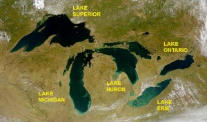 Great Lakes from space