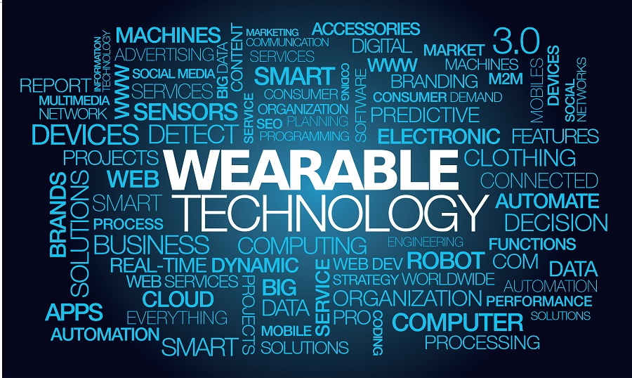 Wearable technology wearables devices wearables clothing accessories words tag cloud text