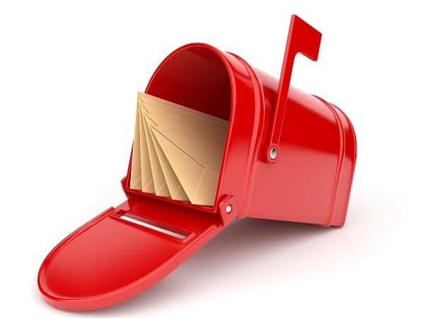 תיבת דואר אדומה