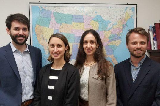 בתמונה - צוות הנציגות בוושינגטון, מימין לשמאל: יונתן בוכדרוקר, יפעת אלון פרל, לנה קובלוב, ג'ק הארון