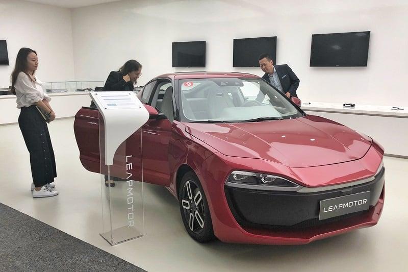 בחינה מקרוב של הדגם של יצרנית הרכב החדשה Leapmotor. הרכב צפוי לצאת לשוק ב2019