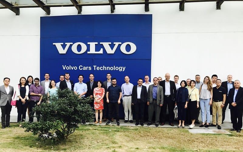 ביקור משלחת טכנולוגיות הרכב במרכז הפיתוח של Volvo בשנגחאי , שם נפגו עם מנהלי המחלקות של Volvo ו Geely
