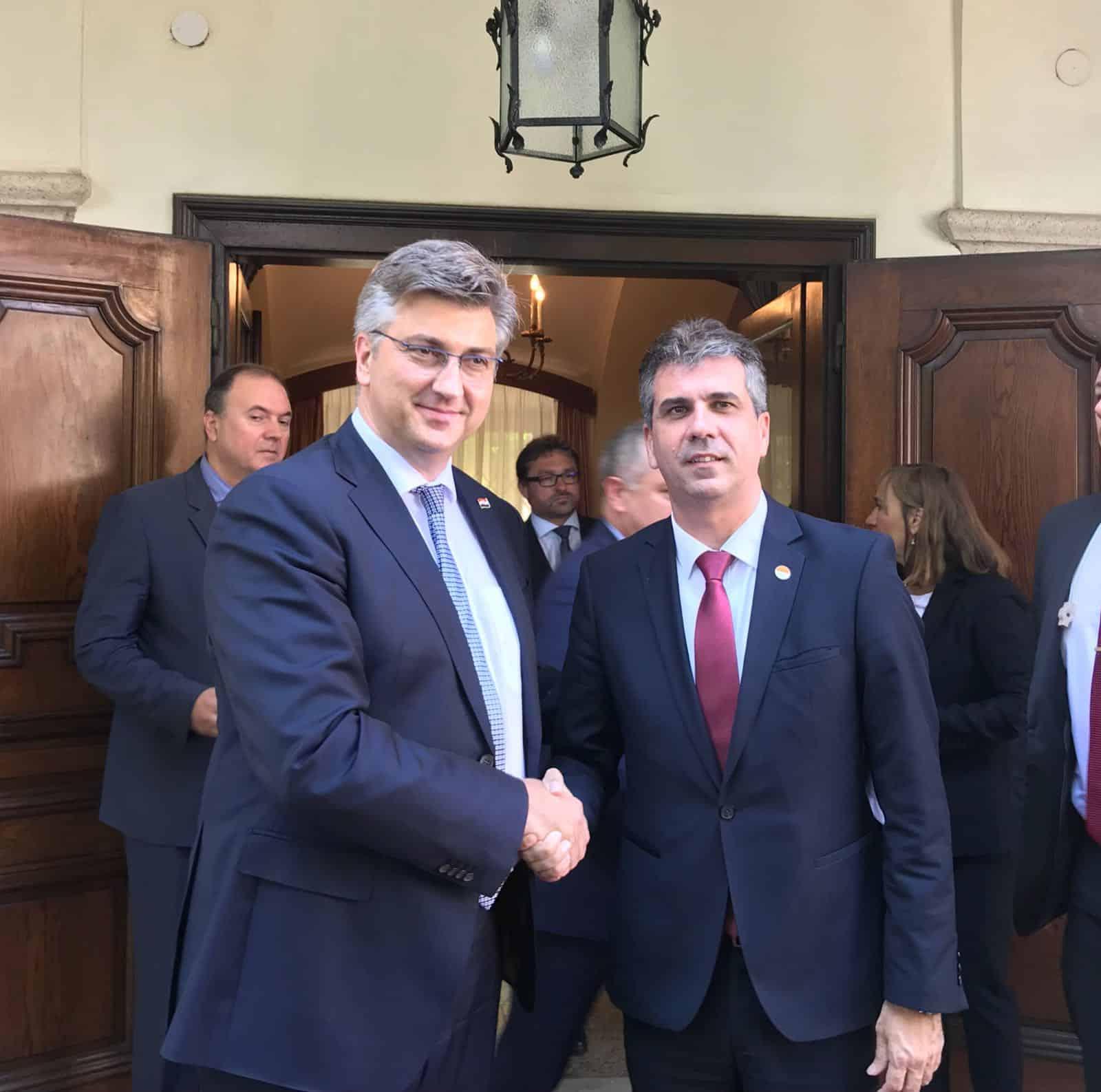 שר הכלכלה, אלי כהן וראש ממשלת קרואטיה, אנדריי פלנקוביץ'