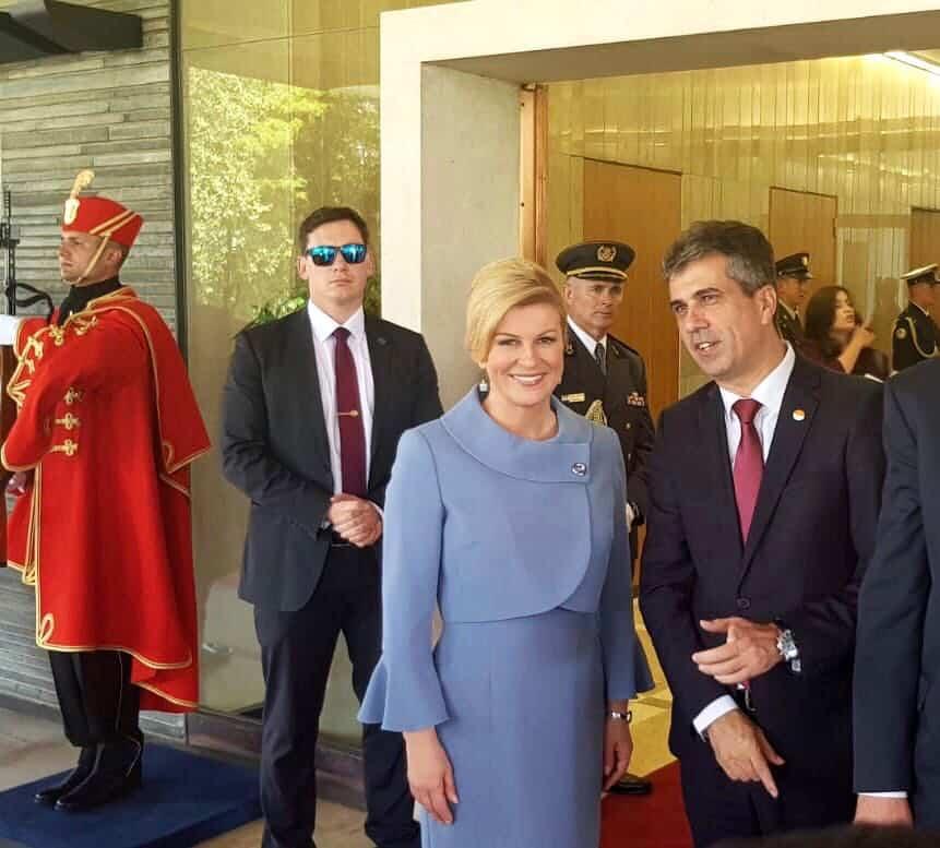 שר הכלכלה, אלי כהן ונשיאת קרואטיה, קולינדה גרבאר