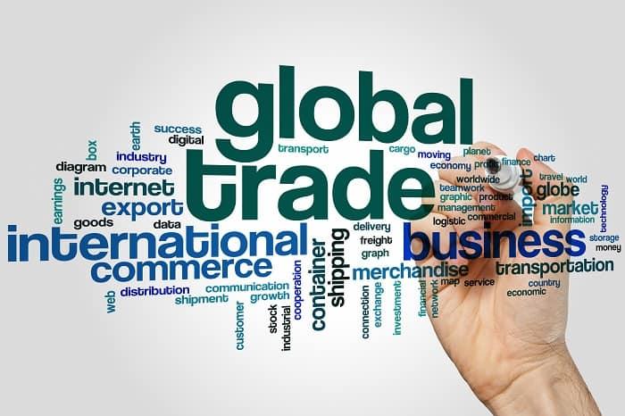 Global trade word cloud