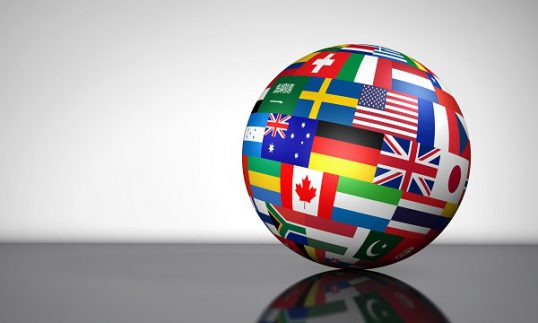 Global Business International Globe Flags