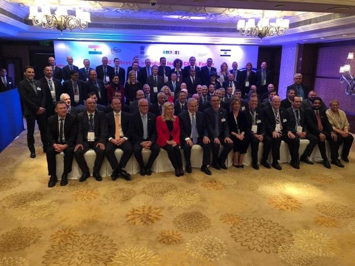 בתמונה: ראש הממשלה נתניהו בתמונה קבוצתית עם חברי המשלחת העסקית, ינואר 2018