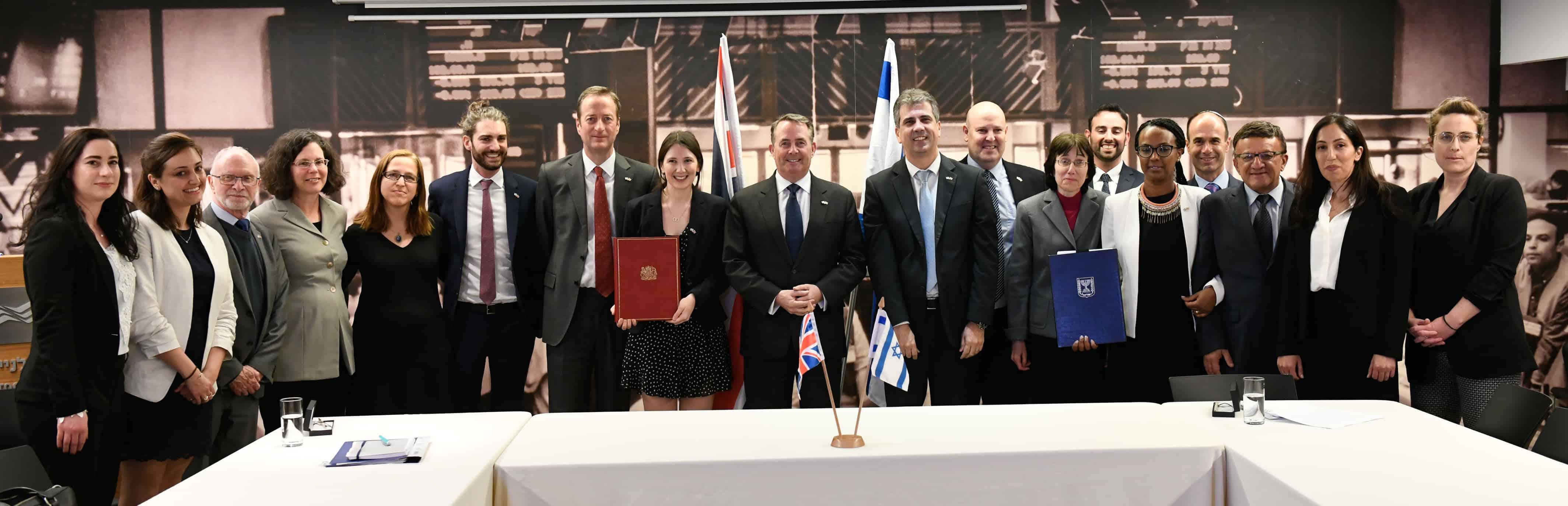 חתימת הסכם הסחר בריטניה ישראל, פברואר 2019