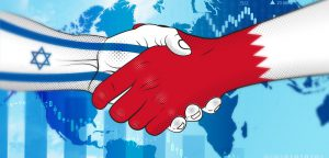 Bahrain,And,Israel,Make,An,Arrangement.,Handshake,Bahrain,And,Israel.